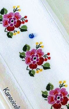 Hand Embroidery Design Patterns, Cross Stitch Borders, Bargello, Needlework, Diy And Crafts, Floral, Flowers, Bath Towels & Washcloths, Cross Stitch Bird