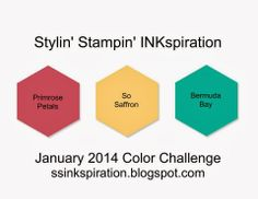 Stylin' Stampin' INKspiration: January 2014 Color Challenge, Come play with us, Ends 1/12/2014!!