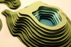 Paper + topography : a beautiful combination! Landscape Architecture Model, Architecture Portfolio Layout, Architecture Drawing Plan, Architecture Drawing Sketchbooks, Water Architecture, Architecture Model Making, Landscape Model, Architecture Collage, Architecture Wallpaper