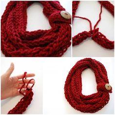 DIY Finger Knit Infinity Scarf | UsefulDIY.com Follow Us on Facebook ==> http://www.facebook.com/UsefulDiy
