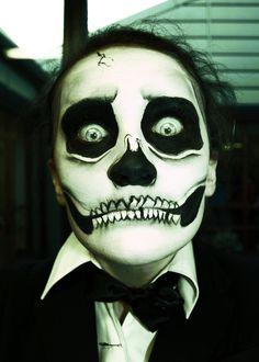 Happy Halloween by Lauren Gibson Skull Makeup