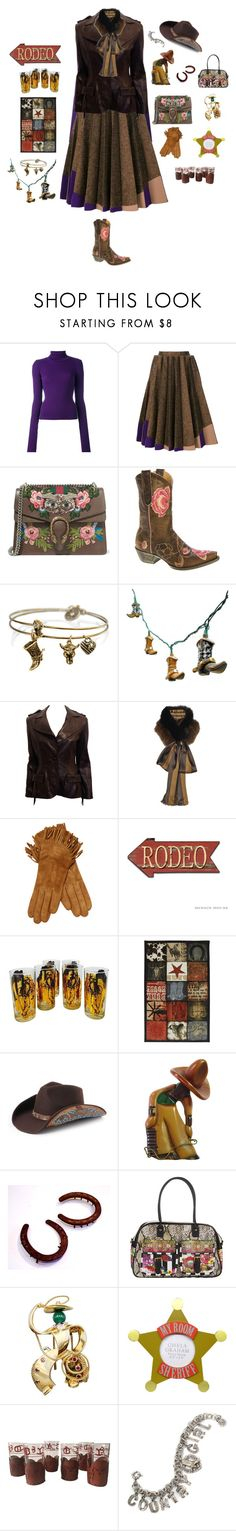 """Cowgirl"" by mbarbosa ❤ liked on Polyvore featuring Jacquemus, Delpozo, Gucci, Old Gringo, Sweet Romance, Lanvin, Fendi, Maison Fabre, Mohawk and Peter Grimm"