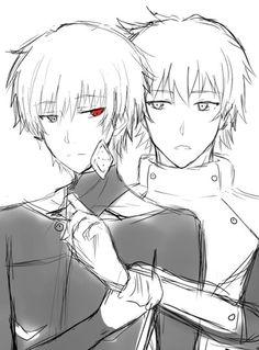 Anime • Manga {CREDITS TO ARTIST!!!!} Tokyo Ghoul Characters: Kaneki Ken & Hideyoshi Nagachika ~ Yaoi/BL Boy Love Friends HideKane