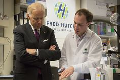 Vice President Joe Biden visits Fred Hutch The man 'in charge of Mission Control' for the National Cancer #Moonshot met with researchers, learned about #immunotherapy, cures on the horizon