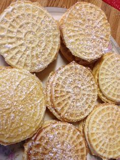 Italian Pizzelles (lemon) - Italian Wafer Cookies-- yum! These were great when Elio shared them with us.