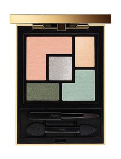 YSL Spring 2016 Collection - Couture Palette, $60.00, Indie Jaspe (Peach, Gold, Silver, Green, Mint), Limited Edition.