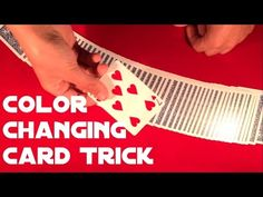 Thanks to video below you'll learn very easy color changing trick that is suitable for all beginners. There is no sleight of hand needed for this trick, you just need a simple gimmick ; Easy Card Tricks, Sleight Of Hand, Color Change, Learning, Simple, Cards, Studying, Magic Tricks, Teaching