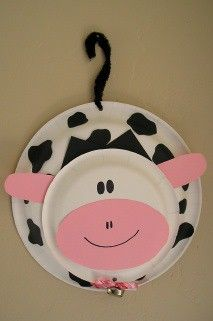 Link takes u to amazon, but pic is clear enough! Letter C: Cute cow paper plate craft
