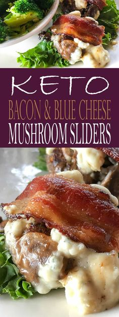 Looking for keto hamburgers? Or keto sliders? Check out these Keto Bacon, Blue Cheese, and Mushroom Sliders! They make the perfect low carb burgers. Blue Cheese Recipes, Cheese Sandwich Recipes, Burger Recipes, Keto Recipes, Drink Recipes, Delicious Recipes, Easy Recipes, Healthy Recipes, Keto Burger