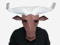 Theres no need to wait! Instantly download, print and make this awesome polygonal mask right in your own home with our printable mask pattern! The instant download includes full instructions and the printable pattern pieces youll need to make this full head Wildebeest/Gnu mask! With a few basic supplies that you may already have at home, you can be wearing this polygon mask in just a couple of hours! We recommend to use thicker paper or thin cardboard 200g-300g / 90lb-110lb cover),...