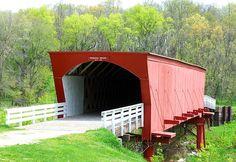 Madison County Roseman Bridge by markmhood, via Flickr