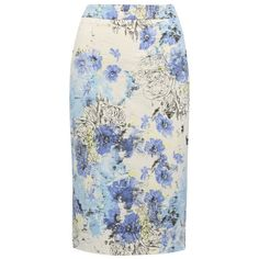 M&Co Floral Jacquard Pencil Skirt ($56) ❤ liked on Polyvore featuring skirts, blue, cocktail skirt, knee length pencil skirt, floral print skirt, evening skirts and jacquard pencil skirt