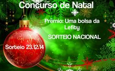 Gentem!!! Quem gostaria de ganhar uma linda bolsa da Lefity de presente de Natal? Então clica no link abaixo e participa. ;)  https://twitter.com/jeane_carneiro/status/540540701109678081  Não esquece de fazer o cadastro na loja hein!!!  #sorteio #participe #concurso #natal #presente #mimo #blog #blogdajeu #lefity #bolsa #presentedenatal