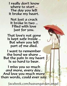 Memorial poems – The gates of memory will never close . – Heavens Garden The unbearable heart ache, of the alienated Parent. Perfectly, simply put. Grief Poems, Funeral Poems, I Miss You Quotes, Missing Quotes, Heaven Quotes, Miss You Mom, Grieving Quotes, Loss Quotes, Dad Quotes