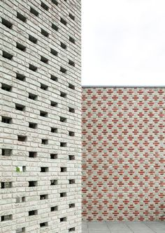Monadnock used various brickwork techniques to create the patterned facade of this viewing tower, designed as a landmark for the Dutch town of Nieuw-Bergen Brick Art, Brick Tiles, Brick Patterns, Wall Patterns, Brick Images, Brick Bonds, Bergen, Brick Detail, Brick Texture