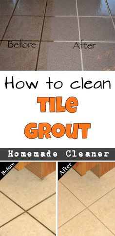Your Very Own Homemade Grout CleanerHomemade Floor cleaners