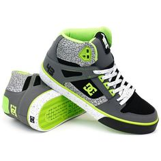 4065e31f DC Block Spartan High WC Black Battleship Soft Lime ❤ liked on Polyvore Dc  Trainers,