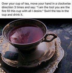 Witchy tip! I do this when I make tea or coffee except I usually just focus on what I want through intentions rather than vocally speaking… Wiccan Witch, Wicca Witchcraft, Magick Spells, Gijinka Pokemon, Witch Spell, Modern Witch, A Silent Voice, Witch Aesthetic, Practical Magic
