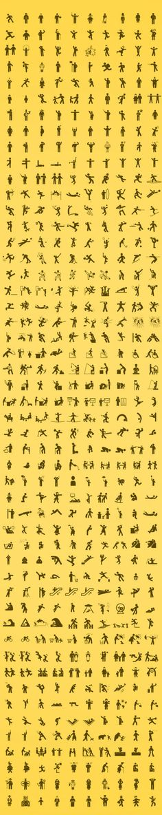 Human Pictos with 500 Icons of humans #freebie