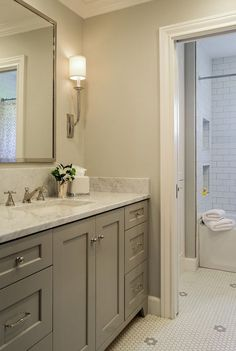 """Today's """"Interior Design Ideas"""" have a little bit of everything; farmhouse interiors, industrial interiors, rustic interiors, traditional interiors, transitional, coastal interiors and more. You wil #traditionalbathroom"""