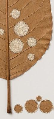 Ultimissime dall'orto: patchwork e ricami di foglie #SusannaBauer