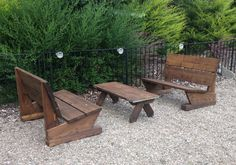 Garden seating from scaffold boards