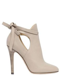JIMMY CHOO - 110MM MARINA LEATHER ANKLE BOOTS - Ive been looking for the perfect pair of gray shoes...I found them...then I look at the price...OF COURSE I like these...uggg