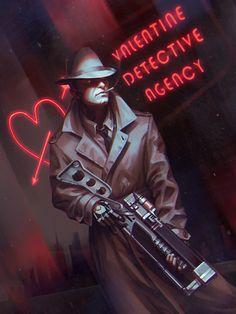 """oblivionsedge: """"Nick Valentine by inSOLense """""""