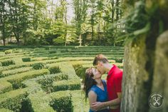 Engagement, wedding proposal, labyrinth