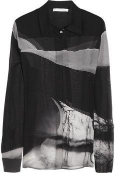 Mary Katrantzou Ligi printed silk-georgette shirt | NET-A-PORTER