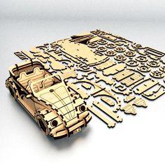 Fusca convertible Puzzle 3D Plain