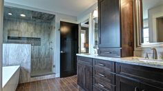 An amazing master bath for an amazing master bedroom. Trust C&E Wurzer Builders with your custom home!