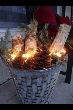 Pretty christmas light arrangement