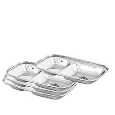 Stainless Steel Round Divided Dinner Plate 4 sections | drrao | Pinterest | Stainless steel Steel and PC  sc 1 st  Pinterest & Stainless Steel Round Divided Dinner Plate 4 sections | drrao ...