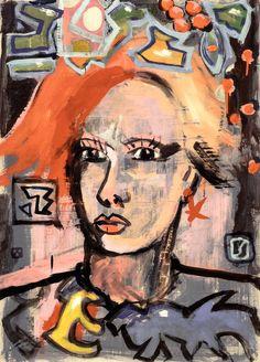 """Borai Kahne Ateliers; Painting """"Prospekt - Faces • 05"""""""