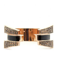 Ca Tilda Crystal And Enamel Detailed Cuff Bracelet ($564) ❤ liked on Polyvore