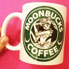 Moonbucks Coffee Mug    Sailor Moon Starbucks    Anime