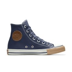 Converse by You. Choose from unique colors, patterns and materials and add personalized text to create a shoe you can call your own. Custom Converse, Custom Shoes, Converse Chuck Taylor Leather, Custom Chuck Taylors, Nike Co, Leather High Tops, Top Shoes, Sneakers, Custom Tennis Shoes