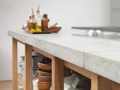 concrete kitchen counters | Stylish Kitchen Countertop Materials, Modern Kitchen Design Trends ...