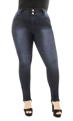 City Chic - APPLE SKINNY JEANS - Women's plus size fashion