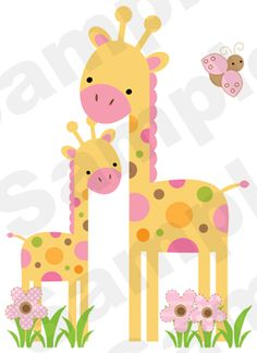 Safari giraffe decal wall art mural for baby jungle animals nursery or kids room decor. Four CLEAR Sticker Sheets make up this mural. Art Wall Kids, Nursery Wall Art, Nursery Decor, Safari Nursery, Girl Nursery, Animal Nursery, Wall Mural Decals, Nursery Stickers, Applique