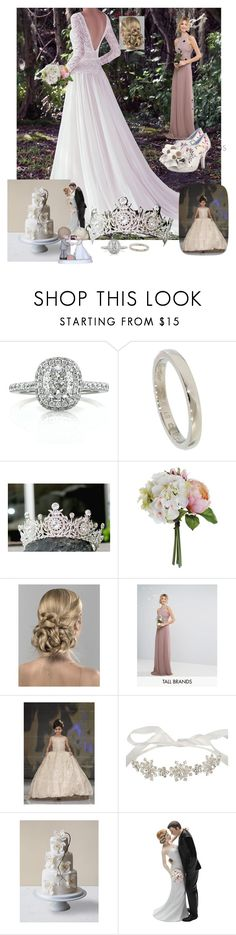 """""""Our June Wedding"""" by mary-kay-de-jesus ❤ liked on Polyvore featuring Maggie Sottero, Mark Broumand, Cartier, TFNC and Precious Moments"""