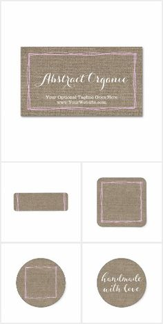 Abstract Organic on @zazzle #Rustic #Trendy #Pink #Natural #Burlap #Handmade #SmallBusiness #Branding #Marketing #Stickers #Labels #Cards #Printable #Custom #Personalized #Zazzle