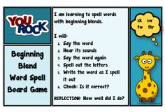 sk- sw-tw-thr-Blends | Spelling | Board Game | See PHONOLOGICAL AWARENESS at ... www.abcteachingresources.com