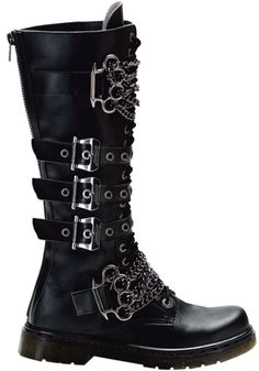 Demonia - Disorder 402 Boot | I absolutely adore the brass knuckle accents.