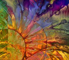 Abstract Painting - Sundial by Mindy Sommers