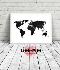 World map printable navy mint world map print navy prints mint world map print world map poster black and white large world map gumiabroncs Images