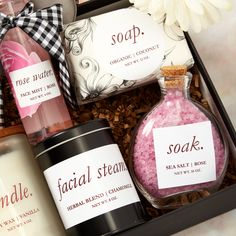 Use Avery labels and our free online design tool to personalize any gift! Rose Water Face Mist, Facial Steaming, Client Gifts, Printable Designs, Tool Design, Christmas Presents, Gift Baskets, Personalized Gifts, Unique Gifts