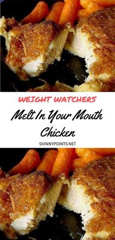 Melt In Your Mouth Chicken- - Delicious recipes Weight Watchers Diet, Weight Watcher Dinners, Weight Watchers Chicken, Air Fryer Recipes Weight Watchers, Ww Recipes, Cooking Recipes, Healthy Recipes, Cleanse Recipes, Italian Recipes