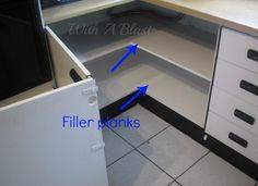 Open Up The Kitchen Corner Cabinet - Easy DIY #storage #kitchen #cabinets WithABlast.com